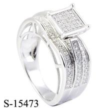 Nouveau Design 925 Sterling Silver Ring Diamond bijoux