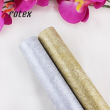 Elegant Silver and Gold Plain Non Woven Fabric Roll