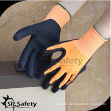 SRSAFETY 13g черная пена латекс / 2016 новые перчатки / рабочие перчатки