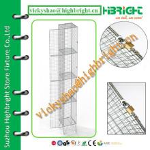 grid wire mesh locker with divider panel