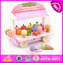 2014 Colorful Wooden Ice Cream Toy for Kids, Play Wooden Ice Cream Toy for Children, Cartoon Wooden Ice Cream Toy for Baby W10b080
