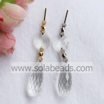 Indoor 12*32mm Crystal Bead Lighting garland Drop