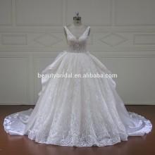Xf1609 requintado vestido de noiva com vestido de esfera
