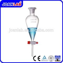 JOAN Laboratory Pyrex Glass Separatory Funnel PTFE Stopcock Supplier