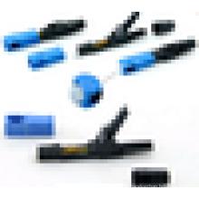 Fonte SC / UPC SC / APC fibra óptica SC conector rápido FTTH fibra óptica conector rápido 10pcs / pacote