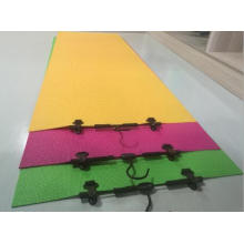 Tapis de yoga de couleur unique de PVC