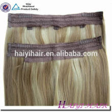 Thick Bottom 120g Remy Double Drawn Cheveux indiens poisson fil extensions de cheveux