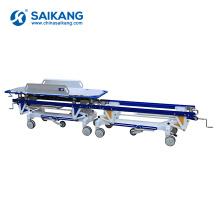 SKB041-B Hospital Furniture Metal Patient Trolley