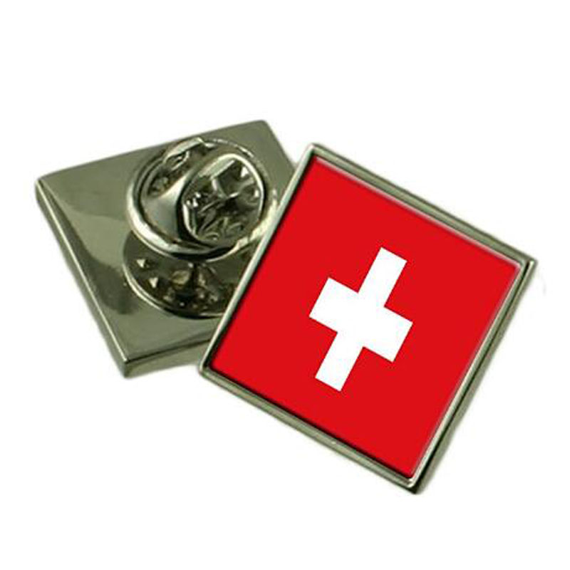 Switzerland Flag Lapel Pin Badge