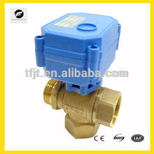 DC5V Electric control 3-way DN20 brass valve for Environmental Protection and drain water system