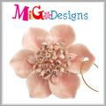 Fashionable Flower Shaped Ceramic Sweater Pendant for Decoration
