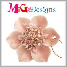 Colar de pingente de cerâmica em forma de flor em forma de decoração