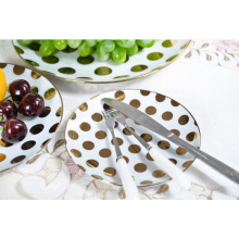 China Factory Custom Design Dinner Serving Dishes Plate Set Ceramic