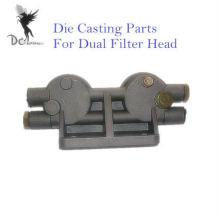 Hochdruck Druckguss-Komponenten für Doppelfilterkopf, ISO / TS16949 zertifizierte Fabrik