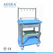AG-IT003A3 IV polo tratamiento ABS material hospital vestidor carretilla