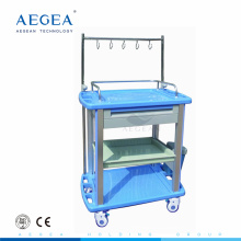 AG-IT003A3 IV pole treatment ABS material hospital dressing trolley