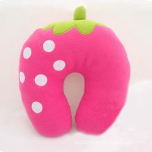 China Cheap U-shaped Fruit Pillow Plush Strawberry Neck Pillow