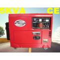 5kw monofásico e trifásico gerador diesel silencioso com CE ISO