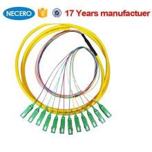 O equipamento ótico usou o OEM & o OEM presta serviços de manutenção à trança de fibra ótica de 12 núcleos com os conectores de SC / APC