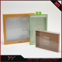 Usine Prix Personnalisé Logo Visible Clair PVC Papier Emballage cadeau Boîte Usine Prix Personnalisé Logo Carré Visible