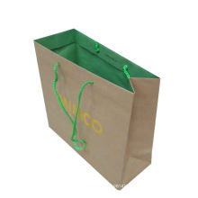 Factory direct shopping bags eco friendly colorful folding promotional white kraft paper bag