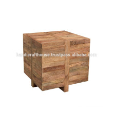 Solid Wooden Cube Coffee table