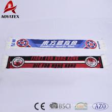 promotion super douce et chaude acrylique club de football scraf avec des glands