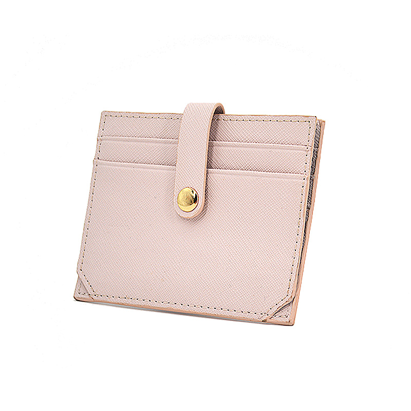 Custom Logo Pu Saffiano Leather Credit Card Holder