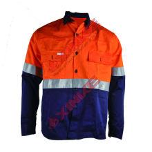 Match color Orange Dark Blue UPF 50+ UV Proof Fabric uv protection shirt