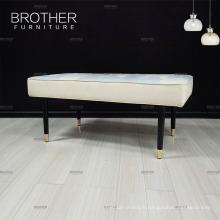 Nouveau design moderne meubles chine tissu en bois banc de vestiaire