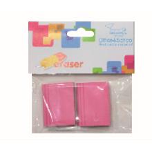 2pcs Rectangle Pink Eraser