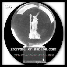 K9 3D Laser Subsurface Image Inside Crystal Ball