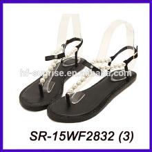 Sandalias planas hermosas de la mujer de la sandalia de la señora sandalias planas de la suposición de las nuevas señoras del diseño