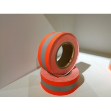 Предупреждающая лента из арамидного пламени EN469 желтого / оранжевого цвета