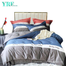 Modern Style 4 PCS Stitching Pattern Home Textile King Bed Softness Bed Sheet Set