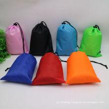 Wholesale Promotion Custom LOGO multi-color Dirty Clothes Drawstring backpack bag Nylon laundry Bag