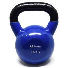 35LB Gym Fitness coloreado plástico Kettlebell sumergido