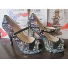 2016 Fashion High Heel Ladies Peep Toe Sandals (HCY02-1489)