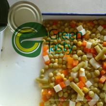 Conservas de legumes mistos em lata/frasco de vidro
