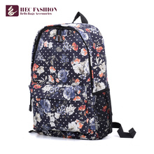 China Most Popular Items Green Dark Blue Beautiful Girl Backpack