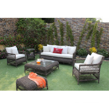 Best selling newest design synthetic PE rattan outdoor furniture living room sofa set 2017