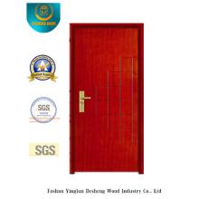 Porte en acier de sécurité rouge brun Simplestyle (B-1010)