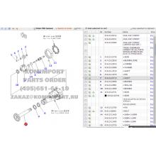 Komatsu loader Parts 419-22-22710 WA320-3 Shaft