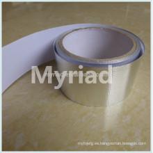 Reflexivo de calor Cinta de aluminio, reflectante y plata Material de material para techos Laminado de aluminio Laminado