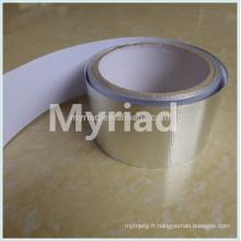 Ruban adhésif en aluminium réfléchissant la chaleur, matériau de toiture réfléchissant et argenté Laminage en aluminium feuilleté