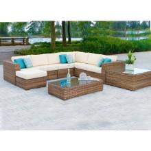Muebles al aire libre de la mezcla de Rattan / de mimbre del sofá del mimbre