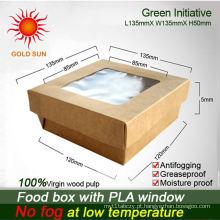 Caixa da caixa da caixa do alimento com janela antifogging