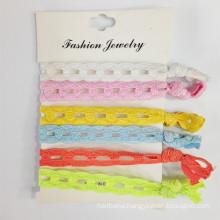 Fabric Elastic Chain Bracelet Hair Ties (HEAD-339)