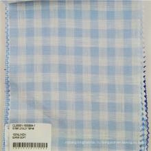 льняной пряжи окрашенные набивные ткани для рубашки/клетчатый ткань