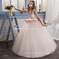 Western latest kids party wear round neck a line heavy beaded new model girl dress for baby girl